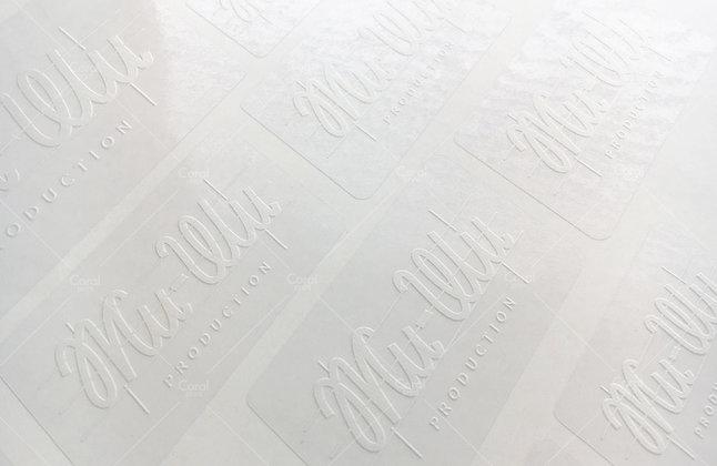 Стикеры с печатью белым